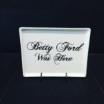 Betty Ford Porcelain Tray