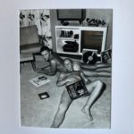 Record Boys. Vintage Photo printed with metallic ink, creating an almost 3-D effect. Pornography from the 1950s.