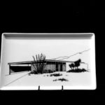 Racquet Club Road Estates B2 1959. Porcelain Tray. Architects: Palmer & Krisel. Food and dishwasher safe.