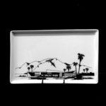 Vista Las Palmas A1 1957. Porcelain Tray. Architects: Palmer & Krisel. Food and dishwasher safe.