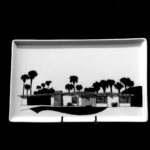 Ramon Rise 1957. Porcelain Tray Architects Palmer & Krisel Food and dishwasher safe.