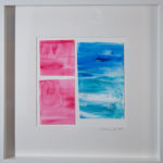 Laguna Beach Watercolor on Paper Framed Original Art