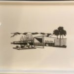 "The Ocotillo Lodge 1956. Porcelain Tray. Architects: Palmer & Krisel. 6.5"" x 5"". Food and dishwasher safe."