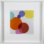 Circles Metalic Ink Framed Original Art
