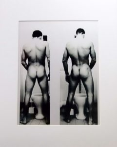 Party Boys. Vintage Photo printed with metallic ink, creating an almost 3-D effect. Pornography from the 1950s.