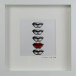 The Perfect Kiss Framed Original Art Metalic Ink on Paper
