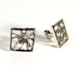 My Osaka Nickel Square Cufflinks are dramatic and elegant. I make each one from a vintage Cadillac hood.