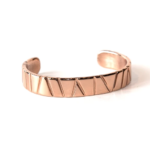Bamboo Collection. Copper over steel cuff from a vintage automobile.