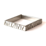 Bamboo Collection. Nickel over steel square bangle from a vintage auto.