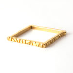 Bamboo Collection. 18 Karat gold over steel square bangle from a vintage auto.