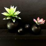 Black Orb Vase - Metal